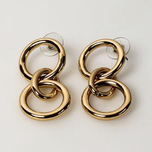 Triple Drop Hoop Earrings